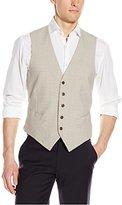 Original Penguin Men's Tan Check Suit Separate Vest