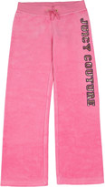 Juicy Couture Sequin-logo velour tracksuit bottoms 4-14 years