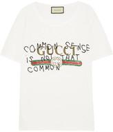 Gucci Printed Cotton-jersey T-shirt - White