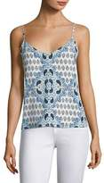 L'Agence Jane Silk Paisley-Print Top