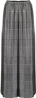 MM6 MAISON MARGIELA Houndstooth Pattern Palazzo Trousers