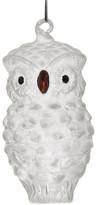 HomArt Small Frosty Owl Glass Ornament