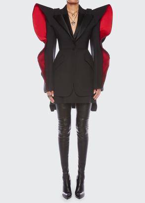 Alexander McQueen Heart-Sleeve Wool-Blend Jacket