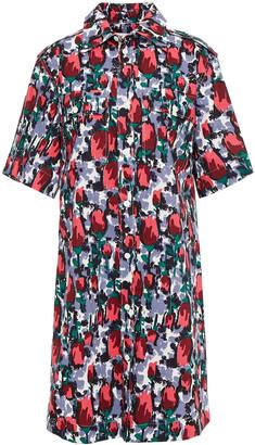 Marni Floral-print Cotton-poplin Shirt Dress
