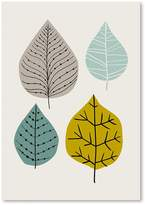 Americanflat Leaves Print Art, Green, Print Only