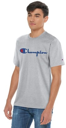Champion Heritage Embroidered Short Sleeve T-Shirt - Oxford Grey