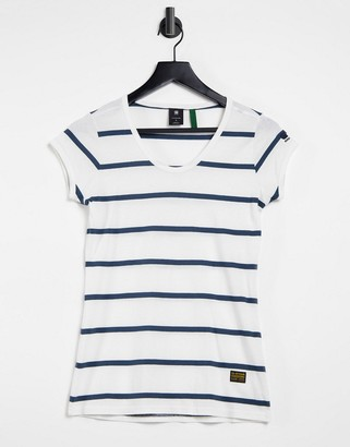 G Star G-Star v-neck tee in stripe