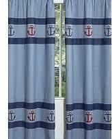 JoJo Designs Nautical Nights Sailboat Window Treatment Panels by Sweet Set of 2