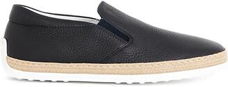 Tod's Tods Mens Navy Blue Gomma Rafia Leather Skate Shoes, Size: EUR 41 / 7 UK MEN