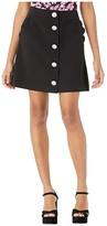 Kate Spade Scallop Pocket Skirt (Black) Women's Skirt