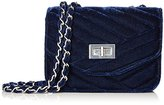 Jessica McClintock Elaine Velvet Turn-Lock Shoulder Bag