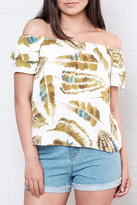 Everly Palm Off Shoulder Top
