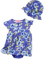 Isaac Mizrahi Pansy Floral Sundress & Sunhat Set (Baby Girls 0-9M)