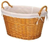 Household Essentials Split Willow Lined Laundry Basket with Handles, Burnt Orange