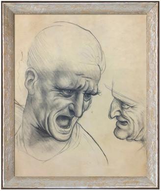 Leonardo Overstock Art La Pastiche By Overstockart Study Of Two Warriors' Heads For The Battle Anghiari By Da Vinci