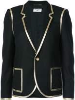 Saint Laurent Metallic Trim Tuxedo Blazer