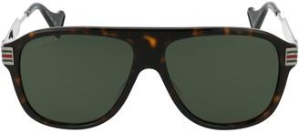 Gucci Monogram Aviator Sunglasses