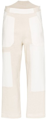 See by Chloe Cropped Patchwork Trousers