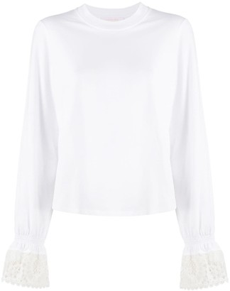 See by Chloe Lace Cuff Blouse