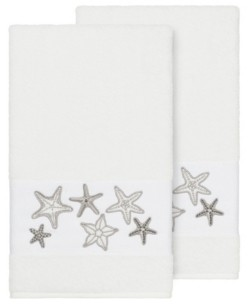 Linum Home Lydia 2-Pc. Embellished Bath Towel Set Bedding
