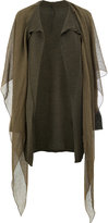 Masnada draped cardigan coat