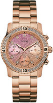 GUESS Women's Rose Gold-Tone Stainless Steel Bracelet Watch 37mm U0774L3