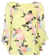 Wallis Lemon Flute Sleeve Top