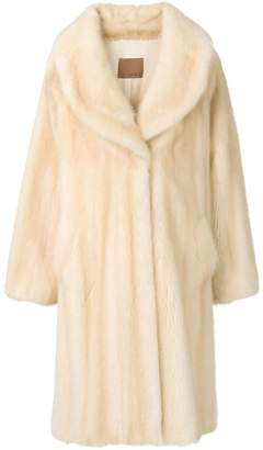 Tini Liska wide-lapelled fur coat