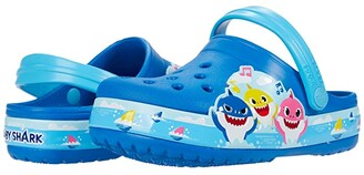 Crocs Fun Lab Baby Shark Band Clog (Toddler/Little Kid) (Bright Cobalt) Kid's Shoes