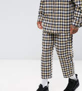 Reclaimed Vintage Inspired Relaxed Trousers In Flannel Check