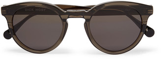 Dick Moby Bristol Round-Frame Acetate Sunglasses