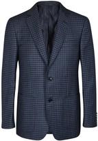 Pal Zileri Checked Wool And Linen Blend Blazer