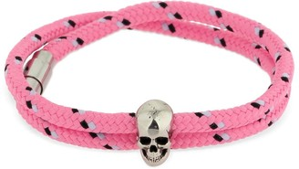 Alexander McQueen Double Wrap Bracelet W/ Skull