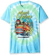 Liquid Blue Unisex-Adults Cheech and Chong Smokin' Ride Tie Dye Short Sleeve T-Shirt