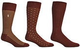 Polo Ralph Lauren Super Soft Birdseye Crew Dress Socks 3-Pack