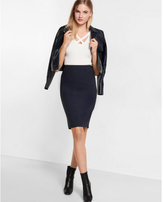 Express checkered pencil skirt