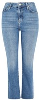 Topshop MOTO Light Blue Dree Cropped Kick Flare Jeans