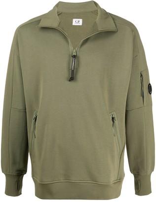 C.P. Company Lens Detail Funnel-Neck Sweatshirt