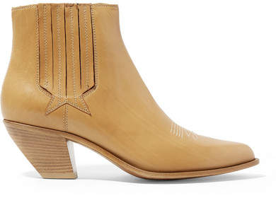 Golden Goose Sunset Leather Ankle Boots - Light brown
