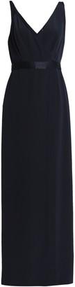 Diane von Furstenberg Satin-trimmed Silk-crepe Gown