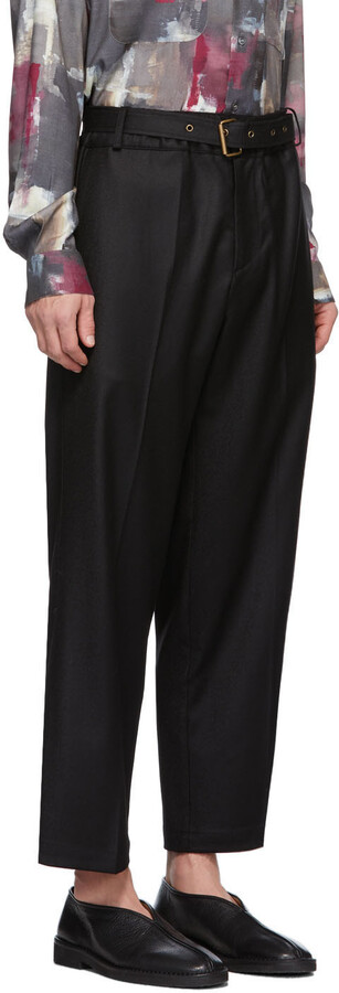 Thumbnail for your product : Davi Paris Black Belted Palais Trousers