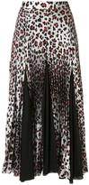 Marques Almeida Leopard-Print Pleated Skirt
