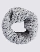 Marks and Spencer Cable Knitted Snood Scarf