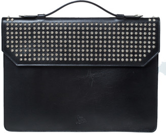 Christian Louboutin Black Spiked Leather Alexis Document Holder