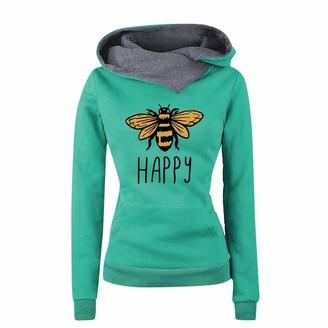 Ifoundyou Women Sweatshirt Casual Cat Printing Long Sleeve Pullover Shirts Hoodies 2019 Autumn Winter Love Hooded Sweater