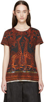 Valentino Black and Orange Giraffe T-shirt