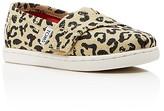 Toms Girls' Cheetah Print Canvas Flats - Baby, Walker