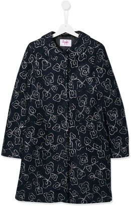 Il Gufo TEEN embroidered floral coat