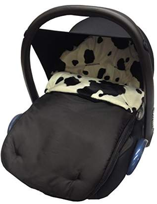 Animal Print Padded Car Seat Footmuff/Cosy Toes Compatible with Jane Strata Rebel Cow