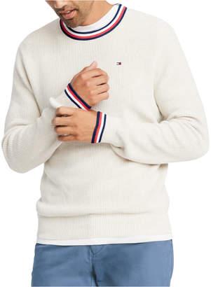 Tommy Hilfiger Men Geneva Regular-Fit Tipped Ribbed-Knit Sweater
